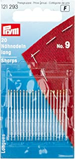 20 pieces PRYM 121289 Hand sewing needles sharps with gold eye No 5; 40 x 0.80 mm