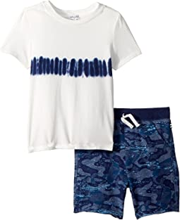 Splendid Littles Whale Camo Short Set (Toddler)