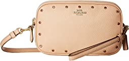 Crystal Border Rivets Crossbody Clutch