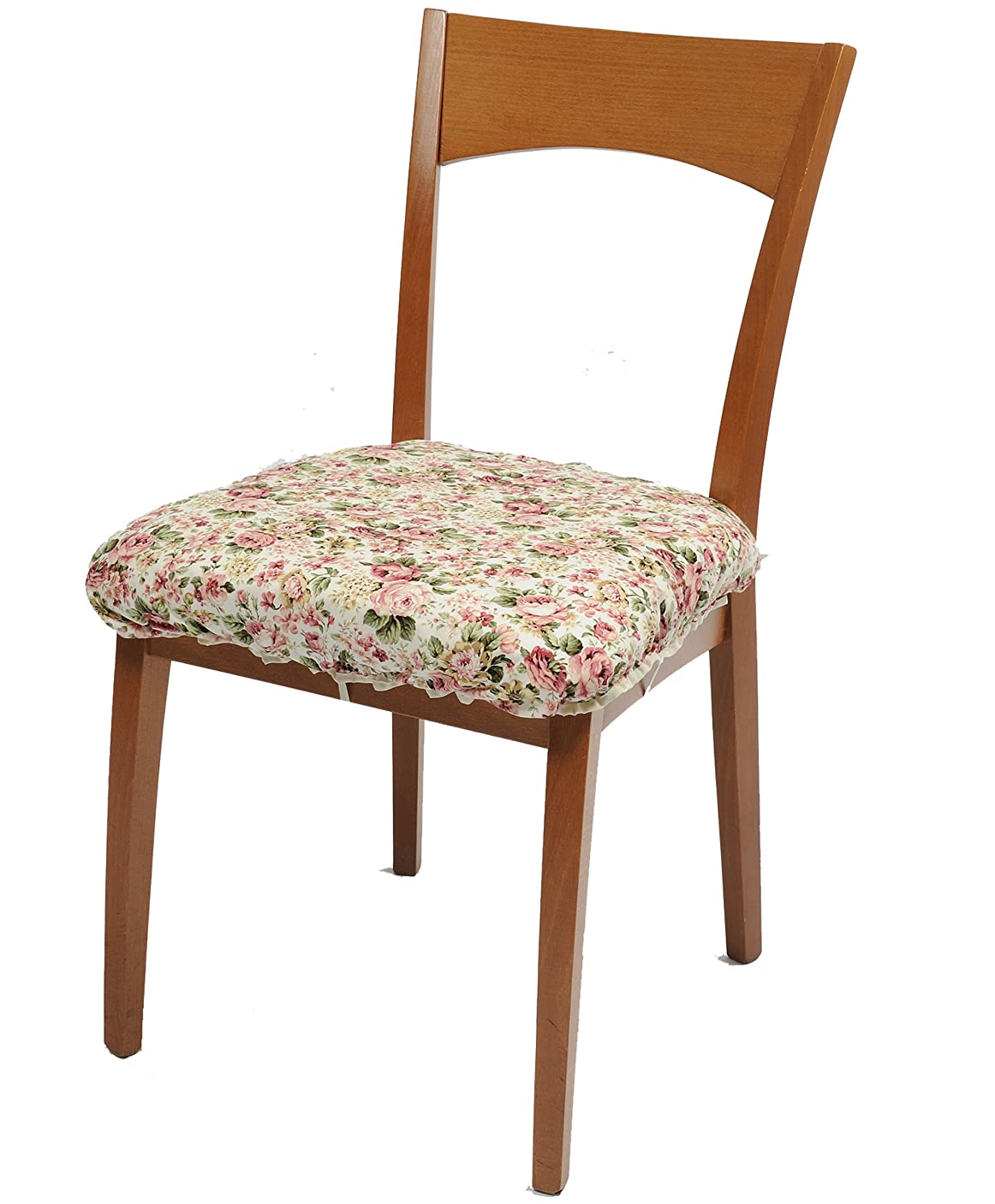 依存保育園ライセンス日本製 おしゃれな 椅子カバー 座面 用 ローズガーデン柄 4枚組