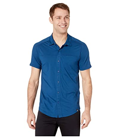Smartwool Merino Sport 150 Short Sleeve Button Down (Alpine Blue) Men
