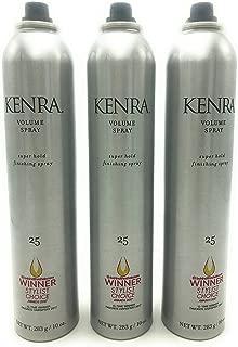 Kenra Volume Super Hold Finishing Spray # 25 10 oz Pack of 3