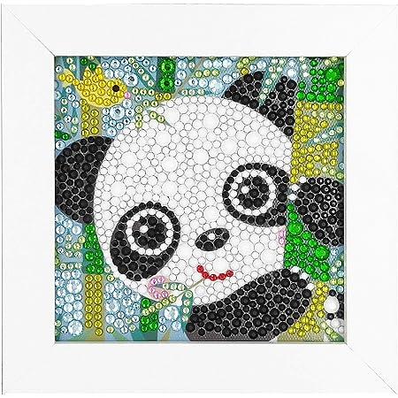 ParNarZar Fun DIY Kits d'artisanat de mosaïque - Kits de Peinture de Diamants Brillants avec Diamants de Tailles différentes pour Enfants jusqu'à l'âge de 6 Ans - Baby Panda 15x15cm