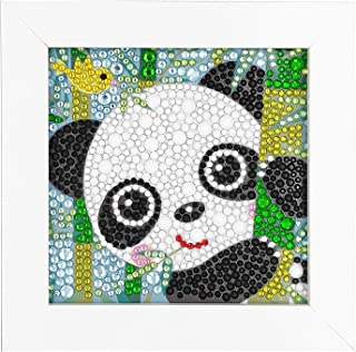ParNarZar Fun DIY Mosaic Craft Kits - Brilliant 5d Diamond Painting Kits with Different Size Diamonds for Children up 6 Years Old - Baby Panda 6X6inches