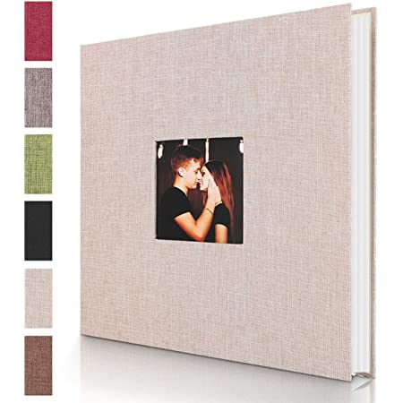 5X7 Linen Shape Leather Cover Magnetic Scrapbook Album 6X8,8X10 Photos AXEARTE Self Adhesive Photo Album 4X6 Hand Made DIY Wedding Family Albums Holds 3X5