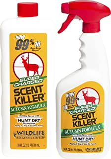 Scent Killer 579 Wildlife Research Super Charged Autumn Formula Spray 24/24 Combo, 48 oz.