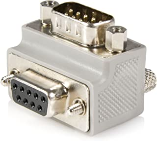 StarTech.com Right Angle DB9 to DB9 Serial Cable Adapter Type 1 - M/F - Serial adapter - DB-9 (M) to DB-9 (F) - GC99MFRA1