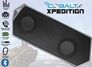 COBALTX Xpedition Rugged Portable Wireless Bluetooth Speaker 5 Hour Play Time 30FT Range Travel Speaker with Strap Hook (Black)