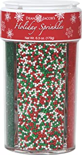Dean Jacob's Holiday Sprinkles ~ 6.3 oz. 4in1 Compartment Jar