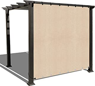 Alion Home Sun Shade Privacy Panel with Grommets on 2 Sides for Patio, Awning, Window Cover, Canopy, Pergola or Gazebo - Banha Beige (10'x 6')