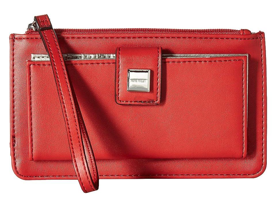 Nine West Abiline SLG Wristlet (Fiery Red) Wristlet Handbags