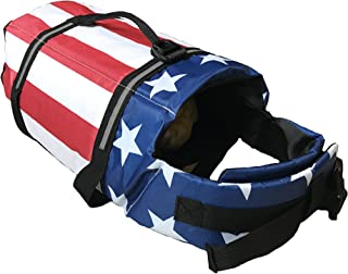 KING Pup Dog Life Jacket - American Flag Life Vest for Puppies and Dogs. Safe and Secure with Extra Padding and American Flag Design