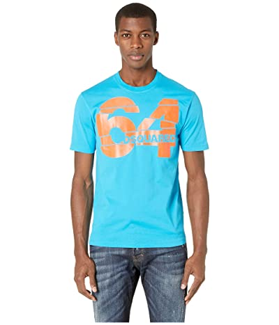DSQUARED2 64 Stud Fit T-Shirt (Bluette) Men