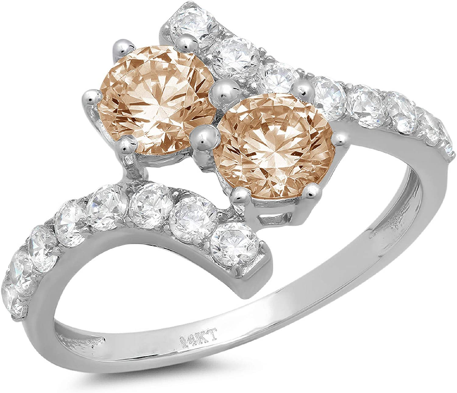 Clara Pucci 2.08 ct Round Cut Solitaire Stunning Ge Washington Mall stone It is very popular love 2