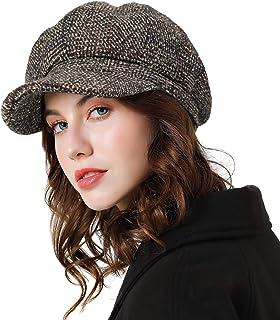Boinas Vintage Hombre Mujer de Sombreros Hombres Beret de Terciopelo Plano Newsboy Hat Oto/ño Verano Gorra para Unisex BIGBOBA
