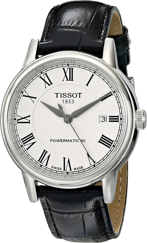 Tissot Men's T0854071601300 T Classic Carson Analog Display Swiss Automatic Black Watch