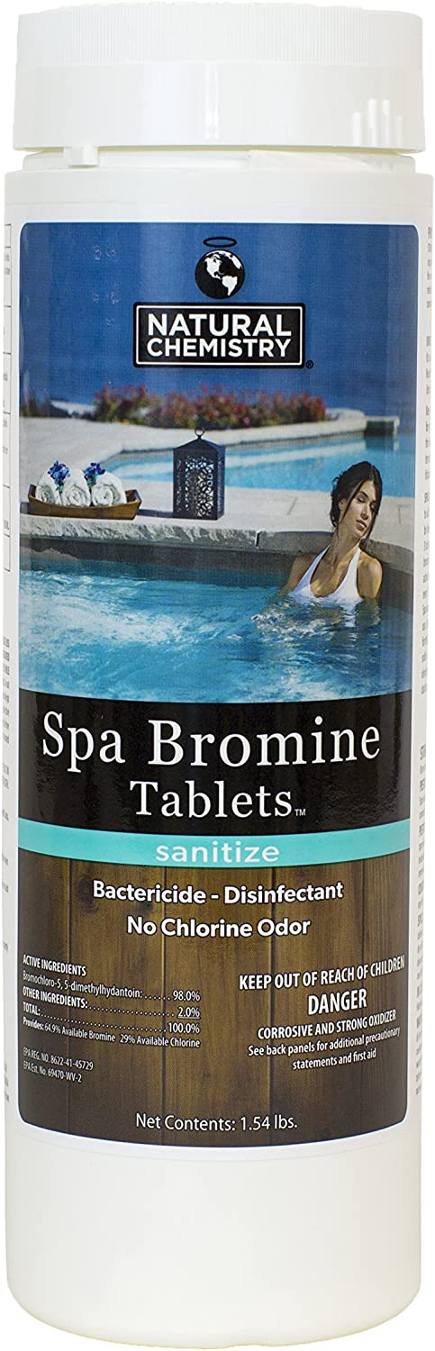 Price reduction Hot Tub and Spa Bromine Tablets Chemistry 1.54 0420 - Elegant Natural LB