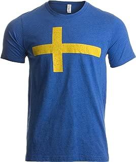 Camiseta Retro Unisex para Hombre - Motivo con la Bandera de Suecia tre Kronor -