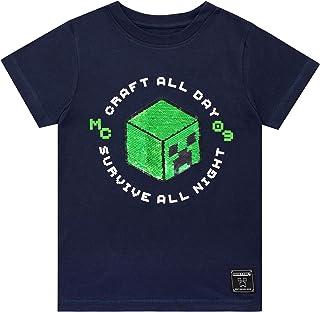 Minecraft Camiseta de Manga Corta para niños Creeper