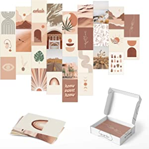 Haus and Hues Aesthetic Photo Collage Kit for Wall Aesthetic - Aesthetic Pictures for Wall Collage | Aesthetic Pictures for Wall Collage Kit Aesthetic Pictures for Wall | 4