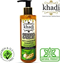 Khadi Global Ginger Garlic Anti Dandruff Shampoo with Raw Honeyand Matcha Green Tea 200 ml/6.76 fl.oz