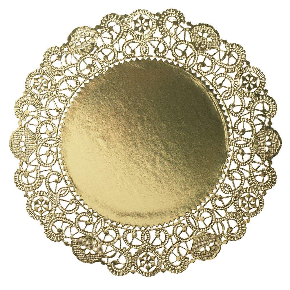 Hoffmaster 完売 GO910SP Brooklace Gold Foil Seasonal Wrap入荷 Doily Round Dia Lace 10