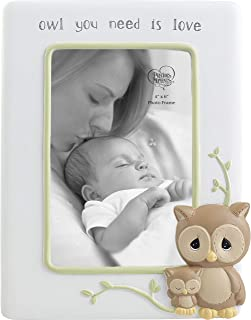 Precious Moments Owl You Need is Love 4 x 6 Resin 183403 Photo Frame One Size Multi