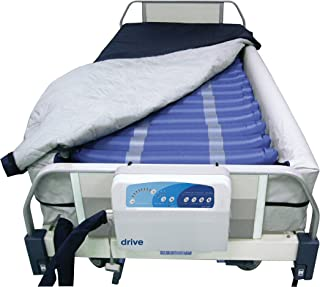 """Drive Medical Med Aire 8"""" Defined Perimeter Low Air Loss Mattress Replacement System with Low Pressure Alarm, 8"""""""