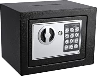 KYODOLED Mini Small Safe Box for Home Office,Electronic Personal Safe Box with Keypad and Slot,Digital Security Steel Cabi...