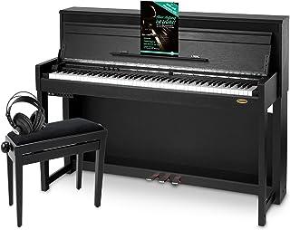 Set Deluxe de piano eléctrónico Classic Cantabile UP-1 SM negro mate