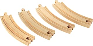 BRIO World - 33342 Large Curved Tracks | 4 Piece Toy Train Accessory for Kids Ages 3 and Up
