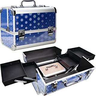 Ver Beauty Professional Makeup Artist Organizer Heavy Duty Travel Case With Four Extendable Easy Clean Trays and Personal ...