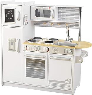 comprar comparacion KidKraft- Cocina de juguete de madera blanca para niños con teléfono incluido para juegos de dramatización Uptown , Color ...
