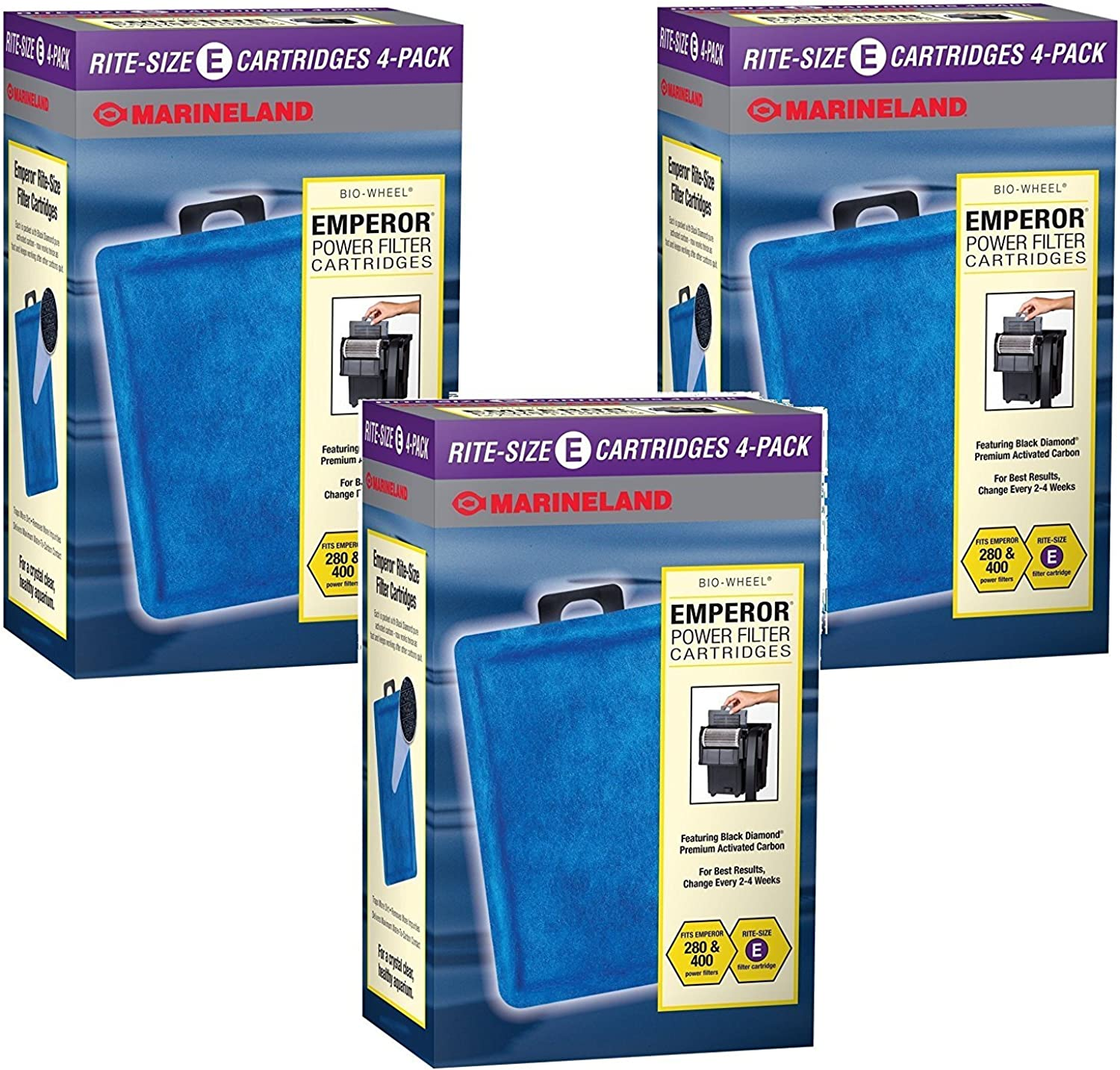 MarineLand Rite Filter Cartridge for Aquarium, Size E, 12Pack