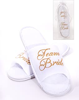Alandra Gifts Slip Team Bride Spa Slipper, Unisex-Adult, One Size