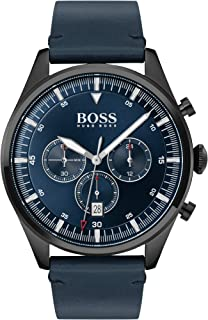 Hugo Boss Mens Quartz Watch, Chronograph Display and Leather Strap 1513711