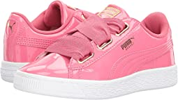 Puma Kids Basket Heart Patent Gold (Little Kid/Big Kid)