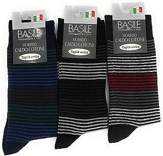 5-20 paia calze uomo da sanitario SENZA ELASTICO 100/% Cotone Multicolore