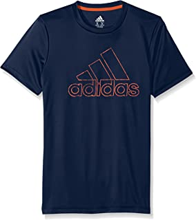 adidas Boys' Short Sleeve Logo Tee Shirt