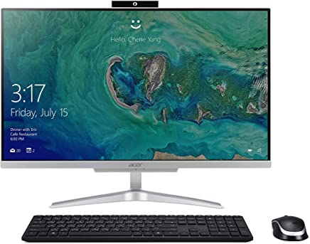 "Acer Aspire C24-865-UA91 AIO Desktop, 23.8"" Full HD, 8th Gen Intel Core i5-8250U, 8GB DDR4, 1TB HDD, 802.11AC WiFi, Wireless Keyboard and Mouse, Windows 10 Home, Silver"