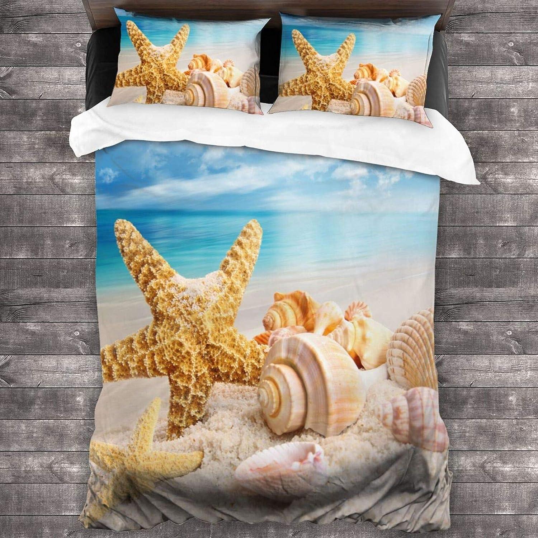 直営ストア Mantaiyuan Ocean Duvet Cover Set Seashells 出荷 Piece Starfish 3 on