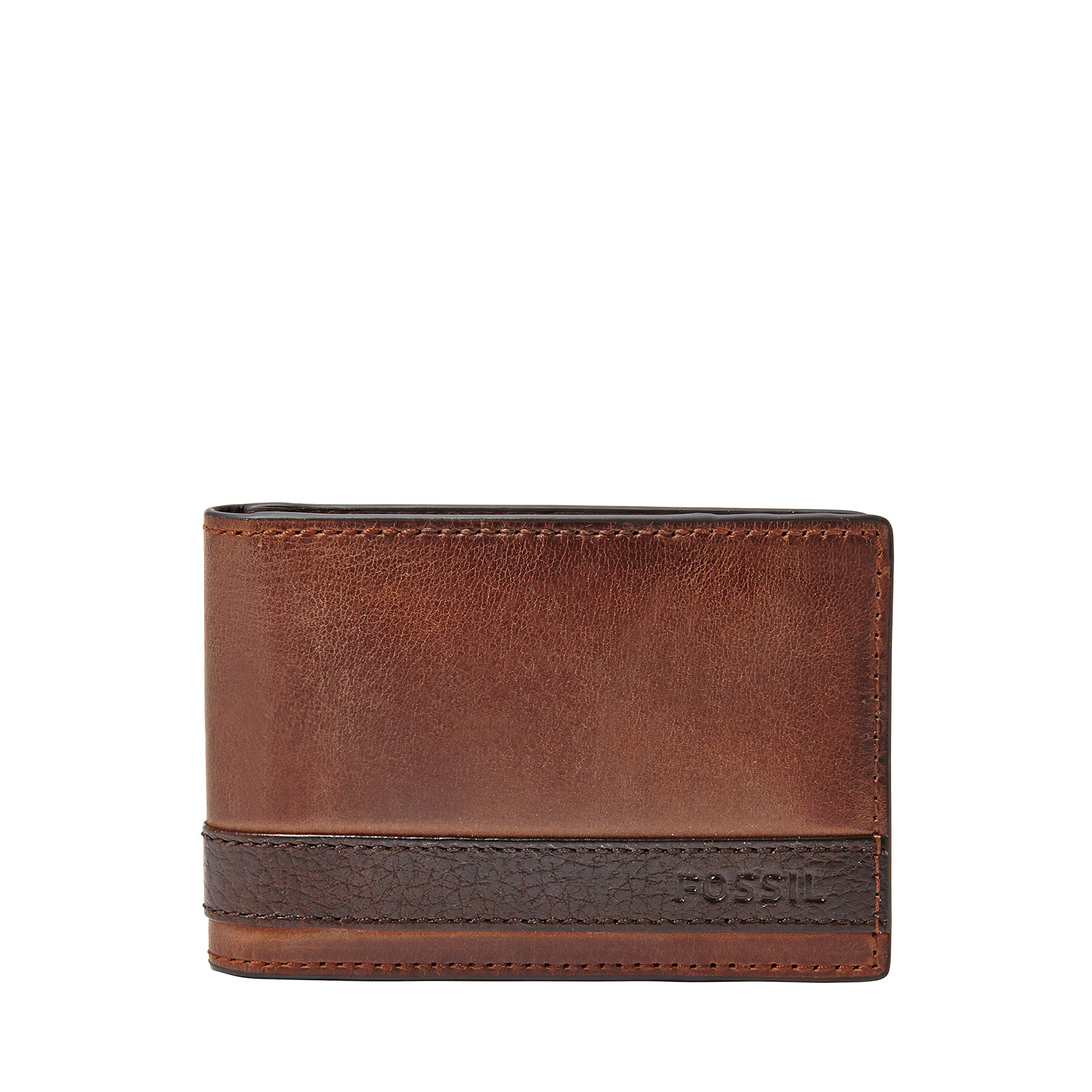 Fossil Leather Money Bifold Wallet