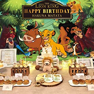 Lion King Backdrop   Simba   Boys   Baby Birthday   Party Supplies   Kids   Banner Photography Decorations