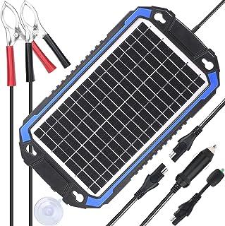 SUNER POWER 12V用 ソーラーカーバッテリーチャージャー&メンテナー - など用 自動車、オートバイ、ボート、マリン、RV、トレーラー、パワースポーツ、スノーモービル、ポータブル ソーラーパネルトリクル 充電 キット 8W ネイビー