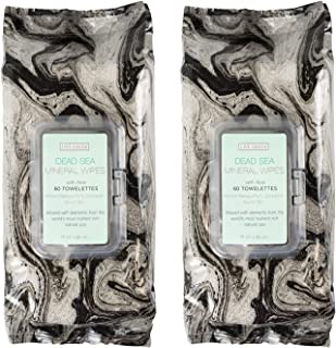 Live Green - 2 Pack (60 Count Each) Dead Sea Mineral Facial Cleansing Wipes