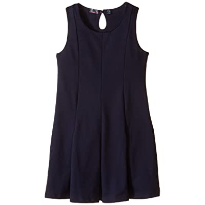 Nautica Kids Sleeveless Pleat Dress (Big Kids) (Su Navy) Girl