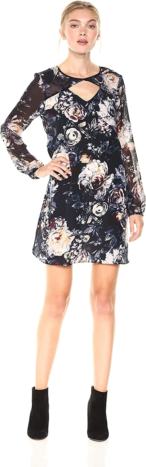 BCBGeneration Women's Shift Dress with Cut Outs