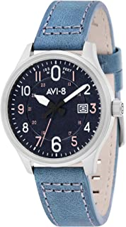 Hawker Hurricane Mens Analog Japanese Quartz Watch with Leather Bracelet AV-4053-0F