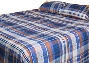 Home Comfort Plaids Luxurious Premium Quality 3 Piece Flat Bed Seet Set Double