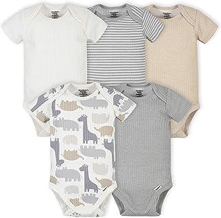 baby-boys 5-pack Organic Short Sleeve Onesies Bodysuits